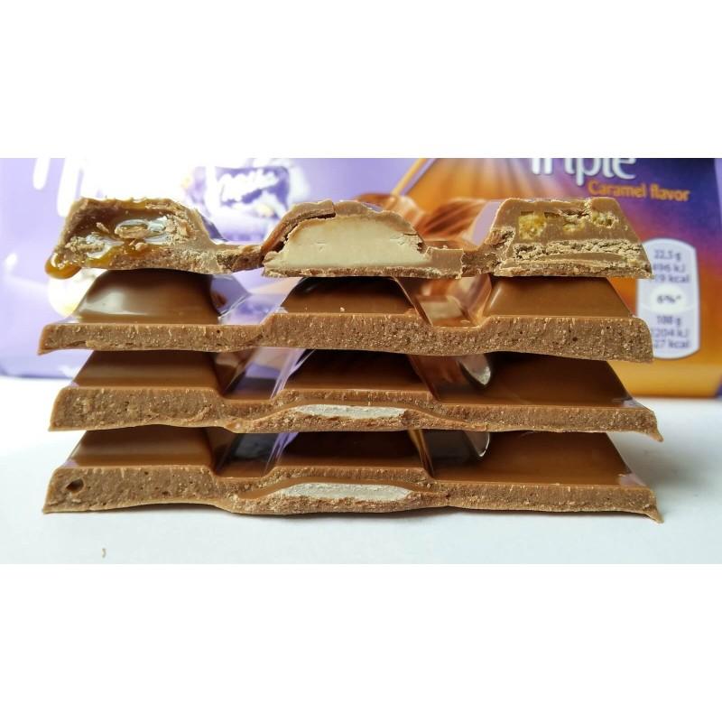 Шоколад Milka Triple Caramel (Тройная карамель)