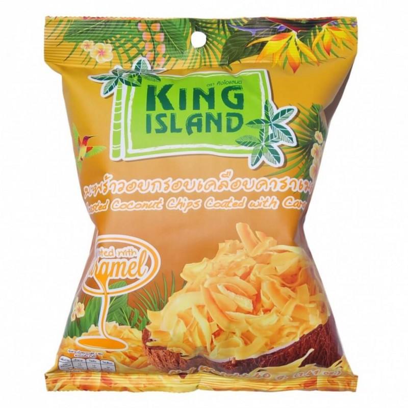 Кокосовые чипсы King Island с карамелью