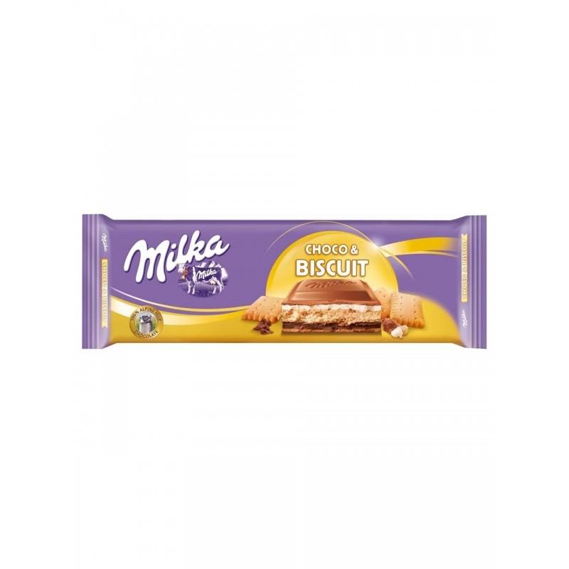 Молочный шоколад Milka Choco Biscuit Chocolate (Печенье с шоколадом)