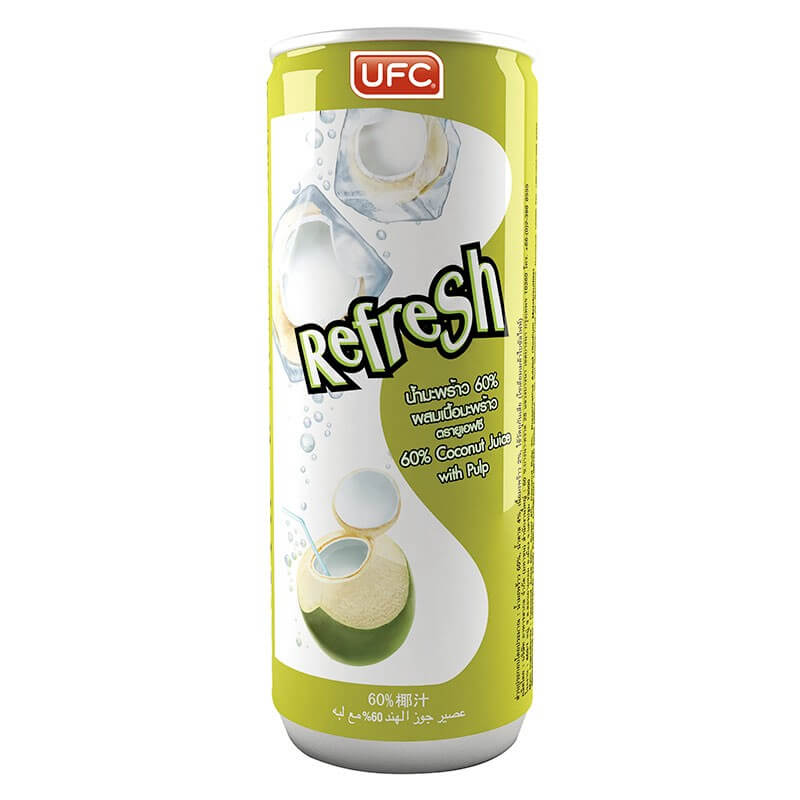 Кокосовая вода UFC Refresh 60% Coconut with pulp (Кокос с мякотью)
