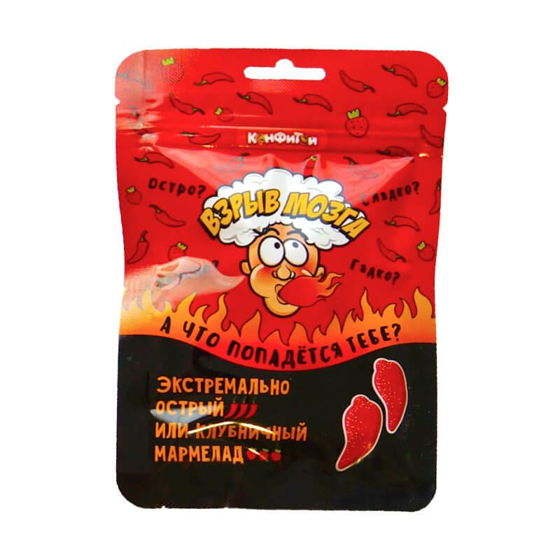 "Мармелад ""Взрыв мозга"" со вкусом Клубники и Перца Чили"