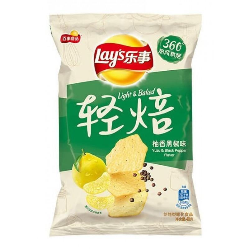 Lays Yuzu & Black Pepper Flavor (Юзу и чёрный перец) 70 г