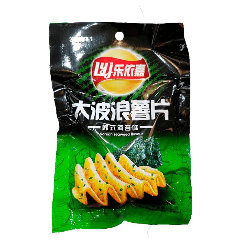 Картофельные Чипсы LYJ Рифлёные со вкусом нори 22 г
