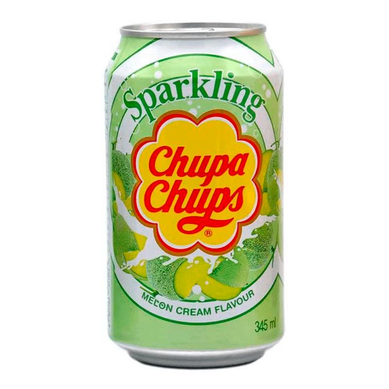 Chupa Chups Sparkling Melon Cream (Дыня Со Сливками) 0,345L