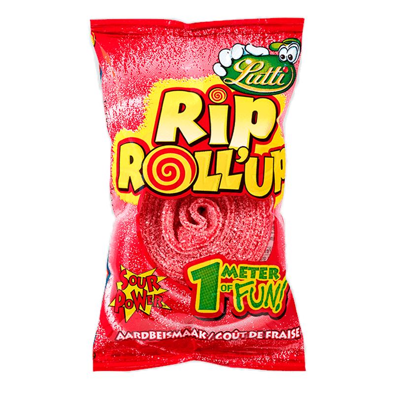 Жевательная Резинка Lutti Rip Roll Up Со Вкусом Клубники 40 g