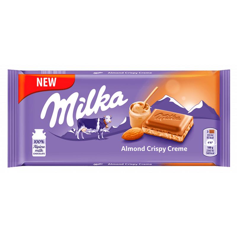 Шоколад Milka Almond Crispy Creme 90 g