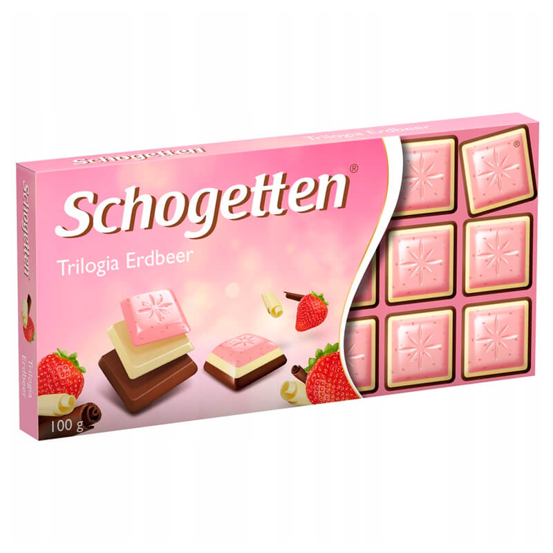 Schogetten Trilogia Strawberry (Клубничная трилогия) 100 г