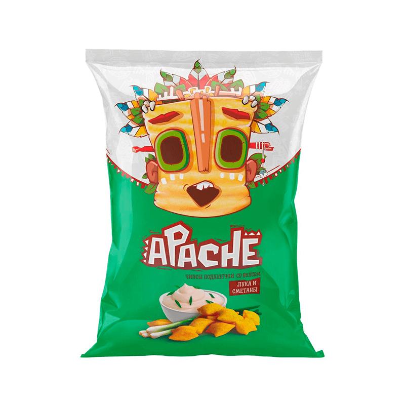 Пшеничные Чипсы Подушечки Apache Со Вкусом Васаби 40g